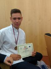 Jose Luis con su premio